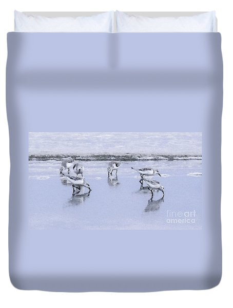 Let's Do Lunch Duvet Cover by Betty LaRue