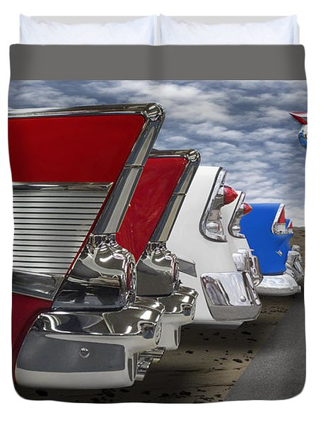 Lets Hear It For The Red White And Blue Duvet Cover