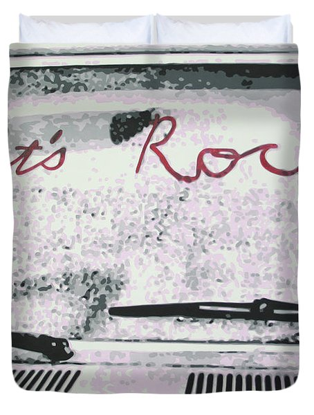 Lets Rock Duvet Cover