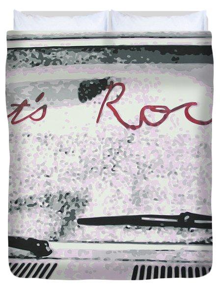 Lets Rock Duvet Cover by Ludzska