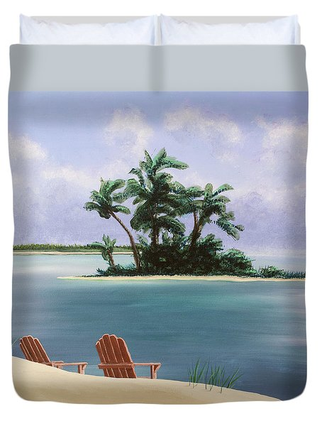 Let's Swim Out To The Island Duvet Cover