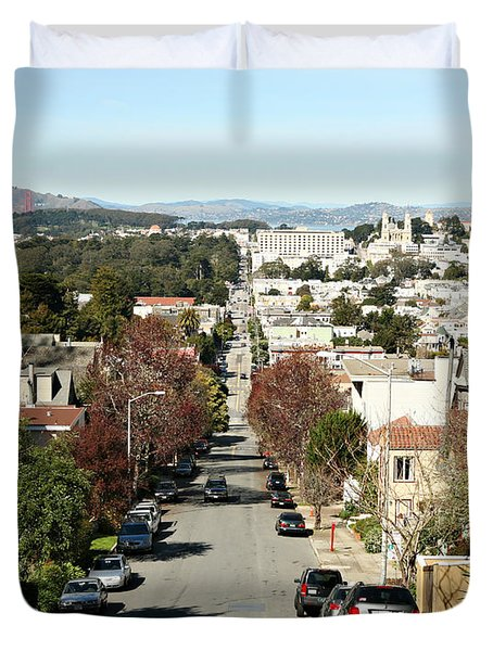 Duvet Cover featuring the photograph Let's Take It From The Top by Carol Lynn Coronios