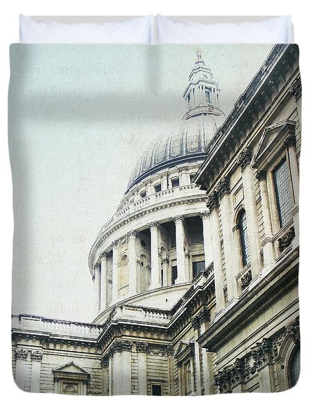 Letters From London Duvet Cover by Lisa Parrish