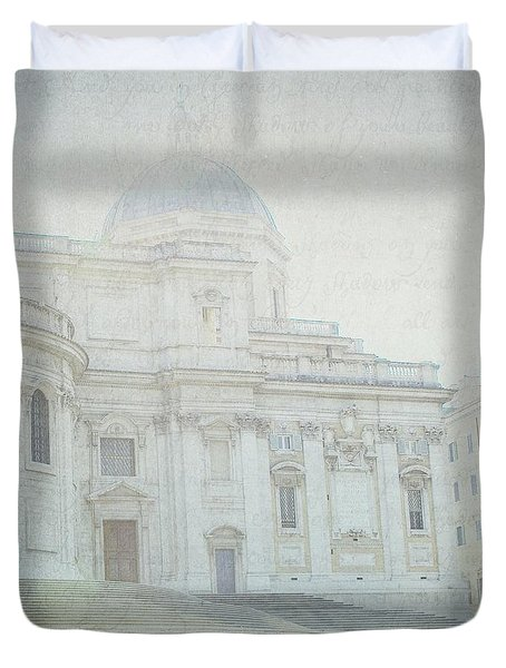 Letters From Roma Duvet Cover