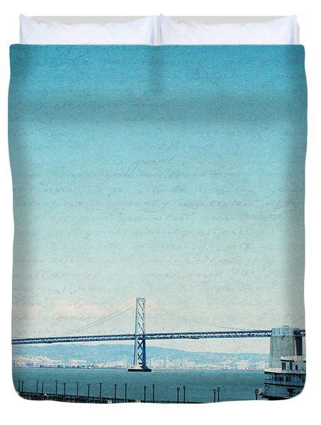 Duvet Cover featuring the photograph Letters From San Francisco by Lisa Parrish