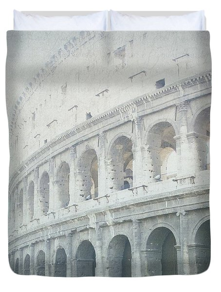 Letters From The Colosseum Duvet Cover by Lisa Parrish