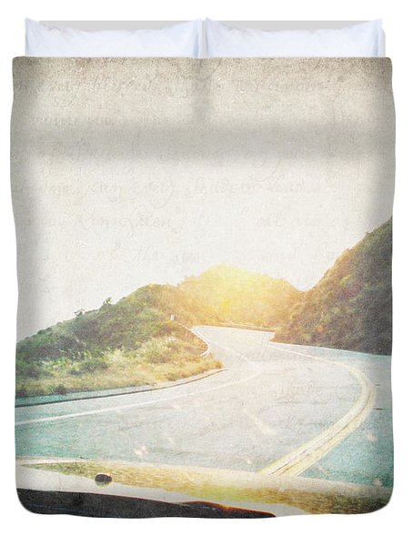 Letters From The Road Duvet Cover by Lisa Parrish