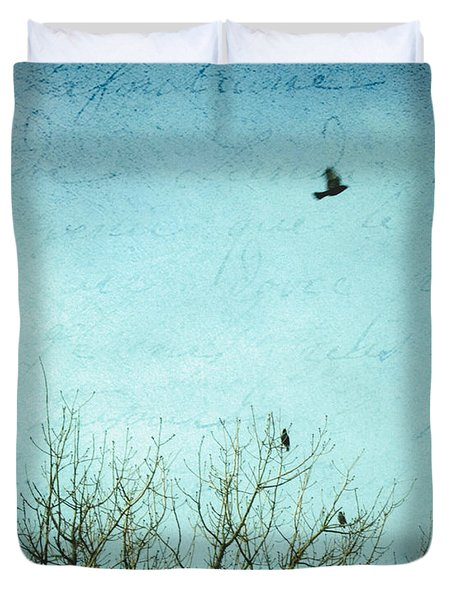 Duvet Cover featuring the photograph Letters Of Flight by Lisa Parrish