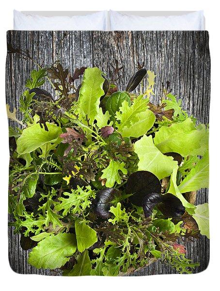 Lettuce Seedlings Duvet Cover by Elena Elisseeva
