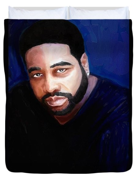 Duvet Cover featuring the painting Levert by Vannetta Ferguson