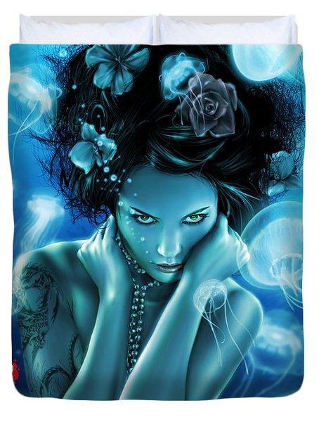 Leviathan Duvet Cover by Pete Tapang