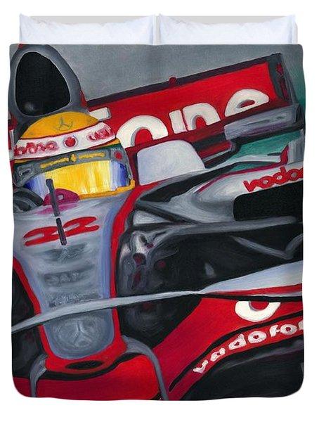 Lewis Hamilton F1 World Champion 2008 Duvet Cover