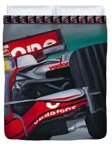 Lewis Hamilton F1 World Champion Pop Duvet Cover