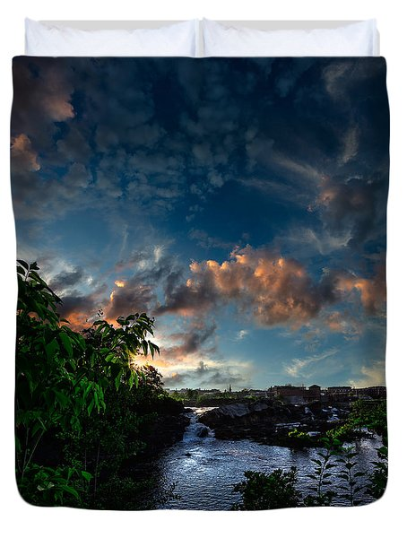 Lewiston In July Duvet Cover by Bob Orsillo
