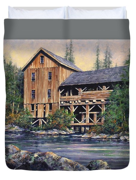 Lewisville Grist Mill Afternoon Duvet Cover