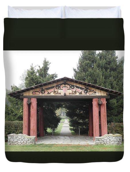 Lheit-li Nation Burial Grounds Entrance Duvet Cover