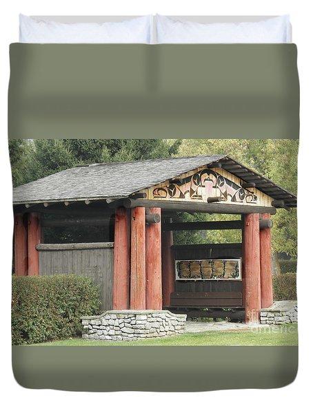 Lheit-li National Burial Grounds Entranceway Duvet Cover