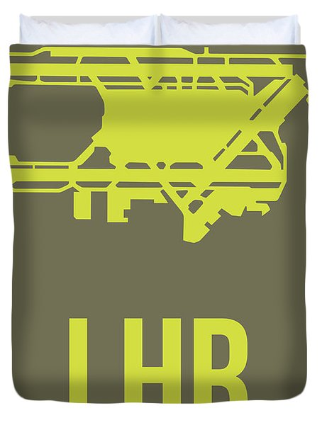 Lhr London Airport Poster 3 Duvet Cover