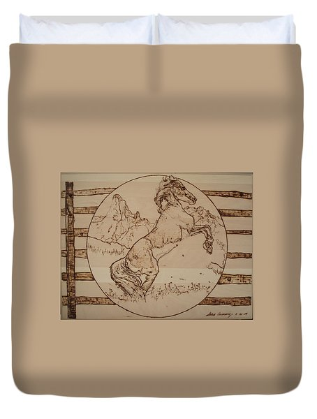 Wild Horse Duvet Cover by Sean Connolly