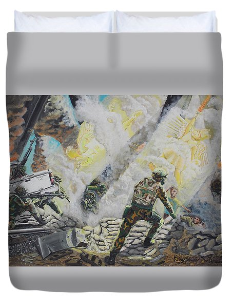 Liberator's Guardian Angles Duvet Cover