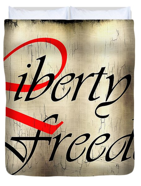 Liberty Freedom Duvet Cover by Daniel Hagerman