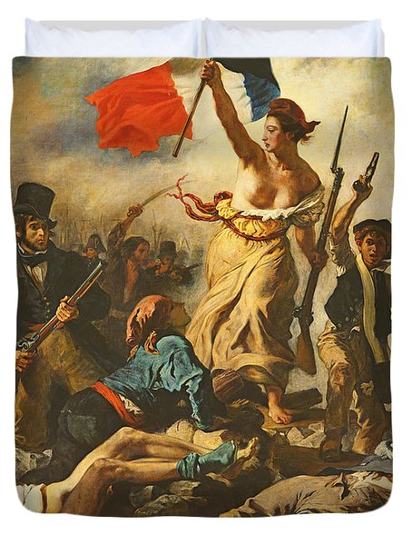 Liberty Leading The People, 28 July 1830 Duvet Cover