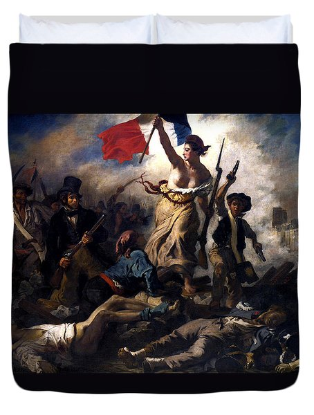 Liberty Leading The People During The French Revolution Duvet Cover by War Is Hell Store