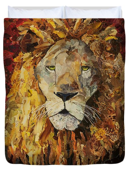 Liberty Lion Duvet Cover by Claire Muller