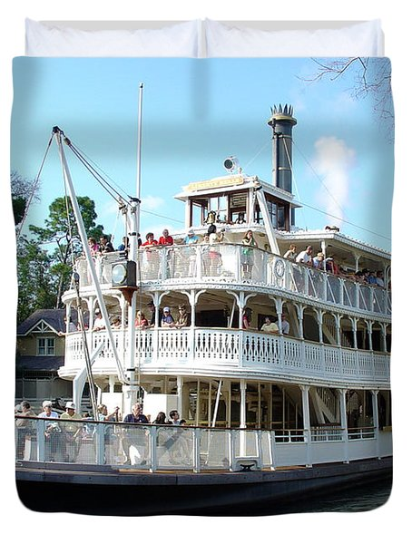 Duvet Cover featuring the photograph Liberty Riverboat by David Nicholls