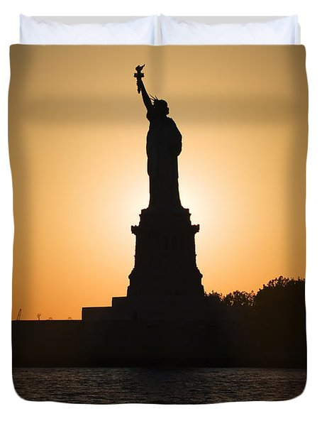 Liberty Sunset Duvet Cover by Dave Bowman