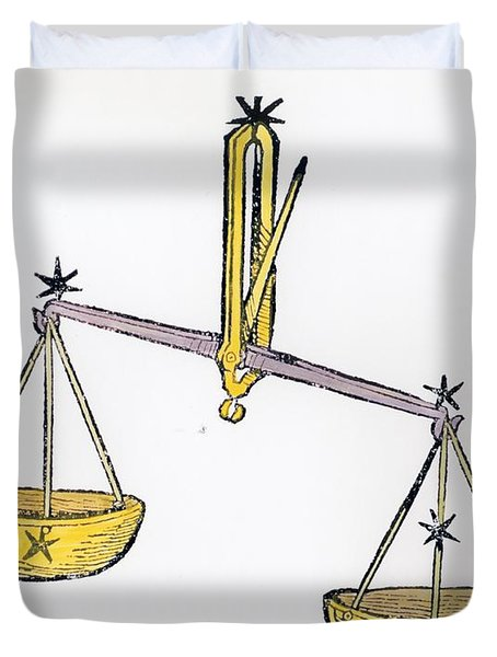 Libra An Illustration From The Poeticon Duvet Cover by Italian School
