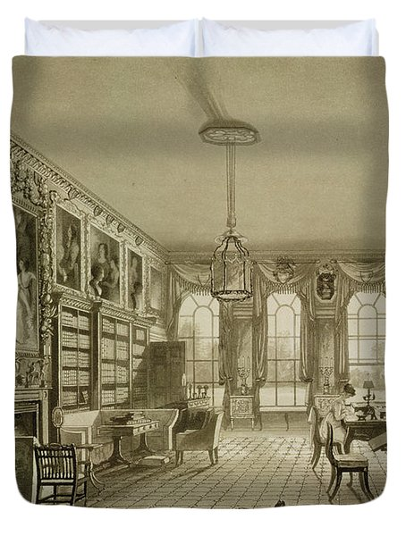 Library As Sitting Room, Cassiobury Duvet Cover