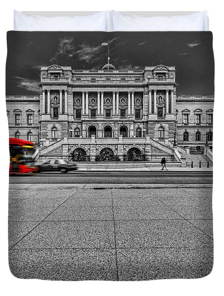 Duvet Cover featuring the photograph Library Of Congress by Peter Lakomy