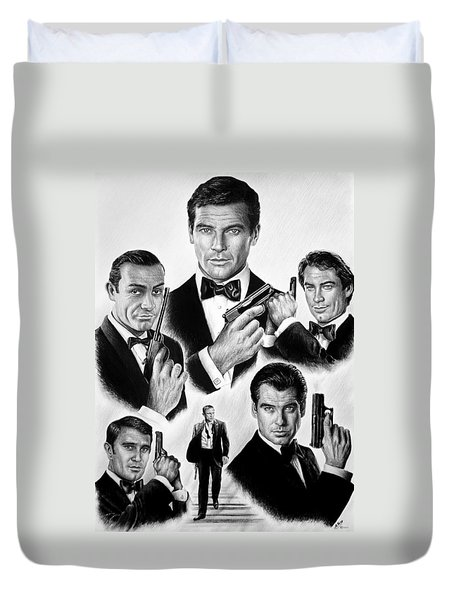 Licence To Kill  Bw Duvet Cover