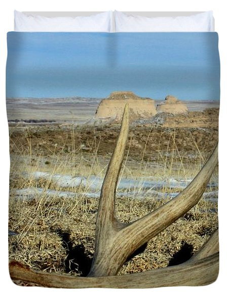 Life Above The Buttes Duvet Cover