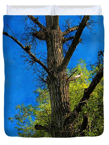 Life And Death Duvet Cover by Mariola Bitner