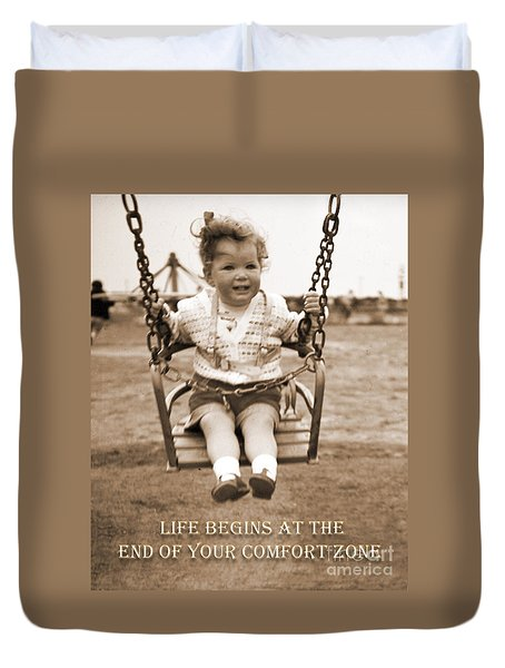 Life Begins Duvet Cover