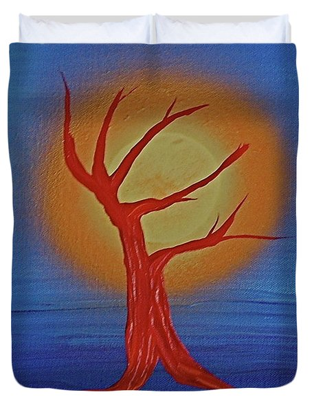 Duvet Cover featuring the painting Life Blood By Jrr by First Star Art
