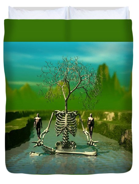 Life Death And The River Of Time Duvet Cover