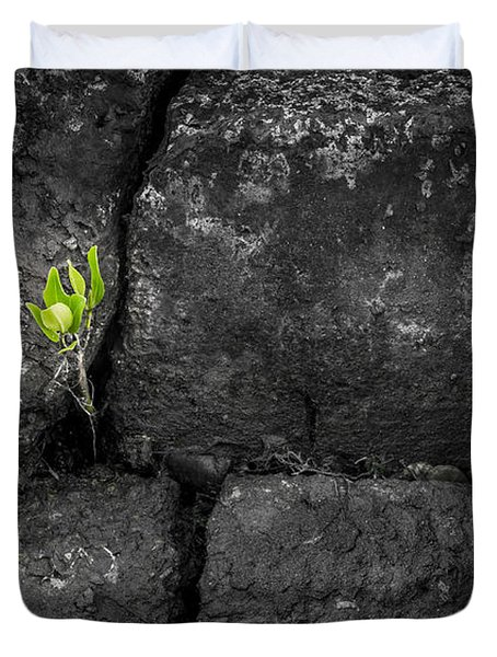 Life Finds A Way Duvet Cover