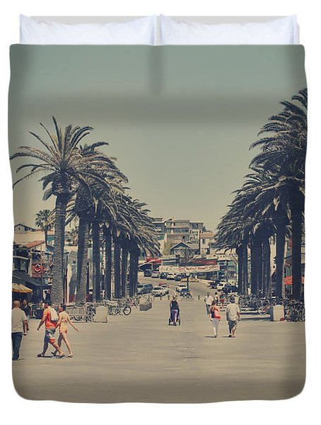 Life In A Beach Town Duvet Cover
