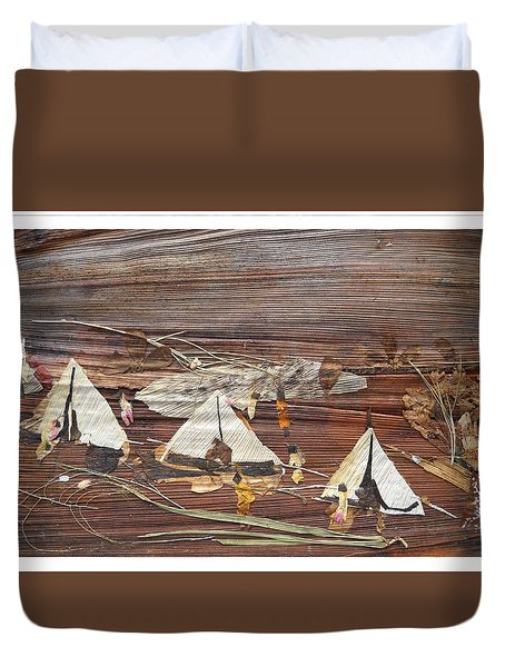 Life In Tents Duvet Cover by Basant Soni