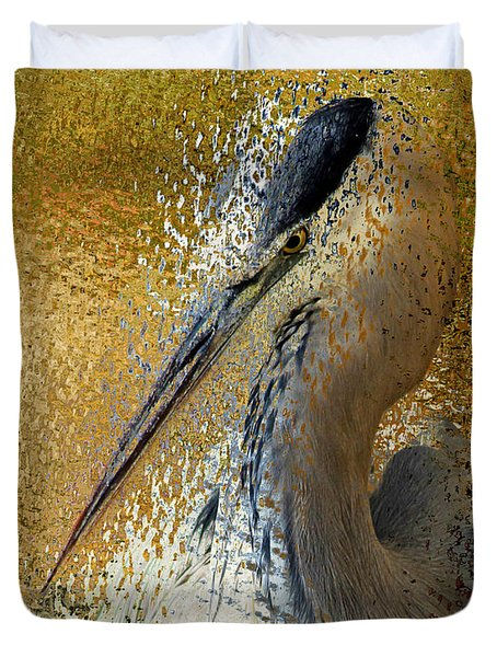 Life In The Sunshine - Bird Art Abstract Realism Duvet Cover