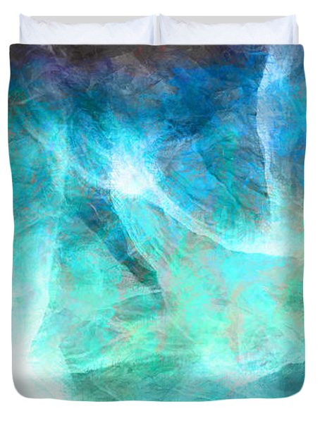 Life Is A Gift - Abstract Art Duvet Cover by Jaison Cianelli