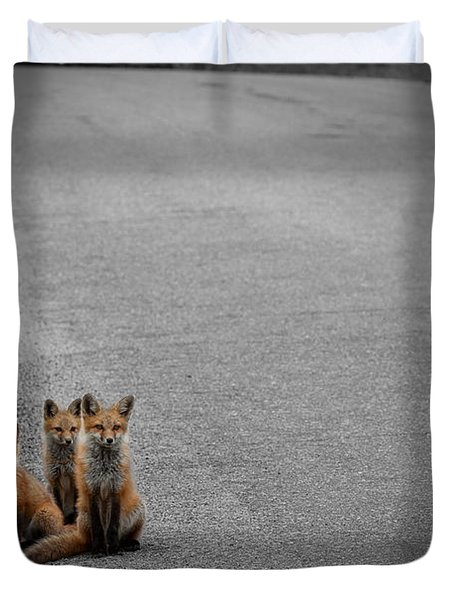 Life Is An Unknown Highway Duvet Cover