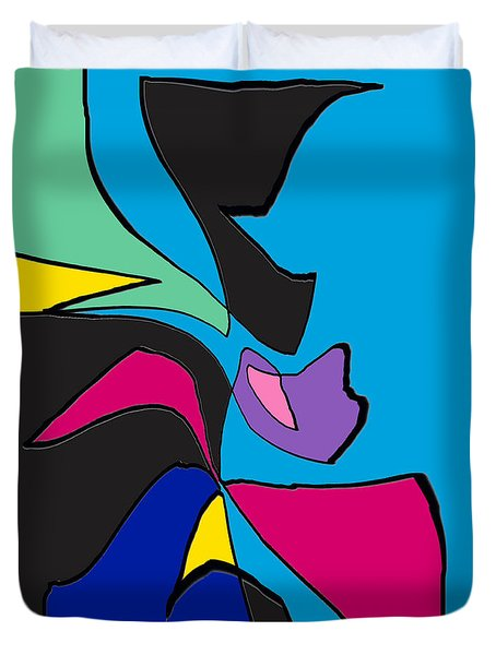 Original Abstract Art Painting Life Is Good By Rjfxx.  Duvet Cover