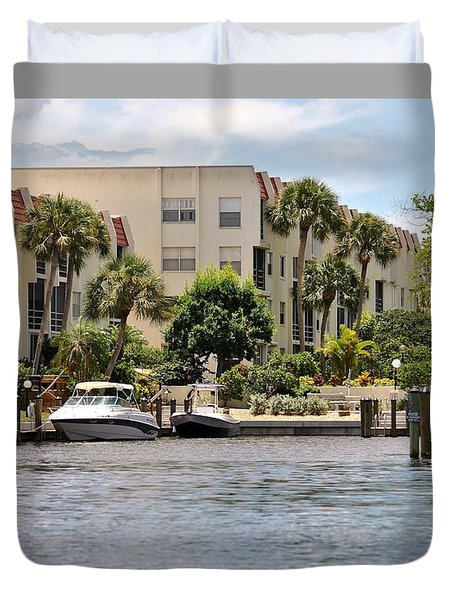 Life On The Intracoastal Duvet Cover