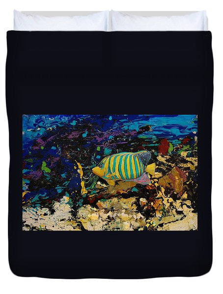 Life Underwater Duvet Cover by Jean Cormier