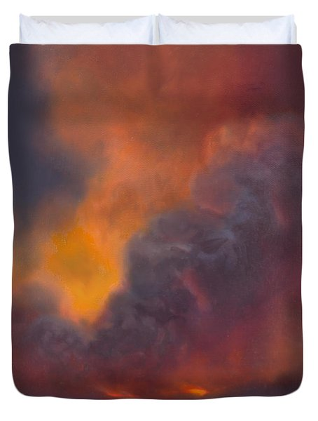 Life Within Hawaiian Volcano Duvet Cover
