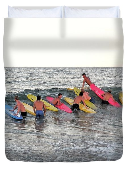 Lifeguard Competition Duvet Cover